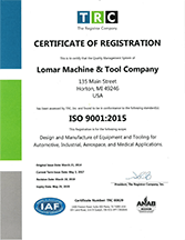 Lomar ISO 9001 Certification